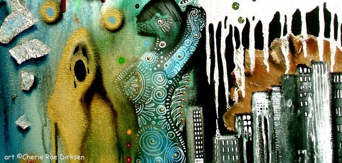 Muse Rock Art by Cherie Roe Dirksen