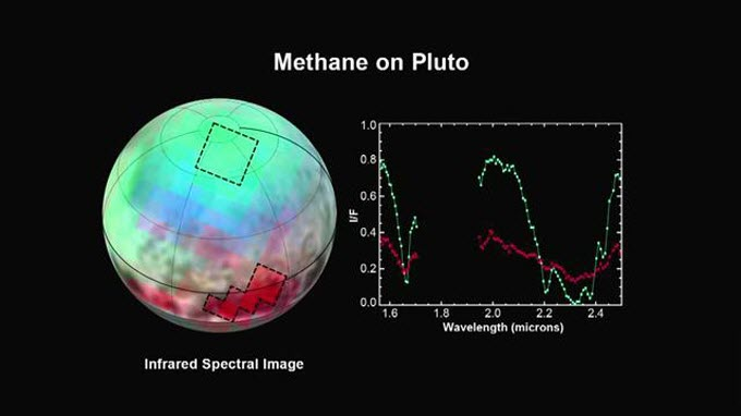 Map of methane on Pluto.
