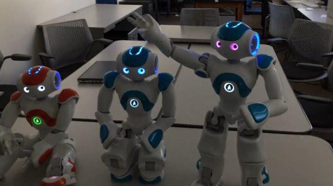 Nao robots demonstrate self awareness
