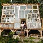 Artist Couple Builds Beautiful Mountain Cabin Out of Recycled Material for Only $500