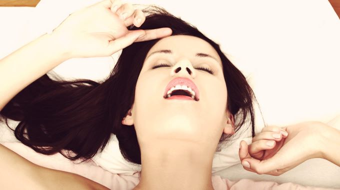 woman having orgasm