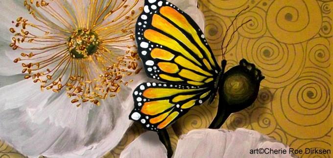 Butterfly on White Poppy by Cherie Roe Dirksen
