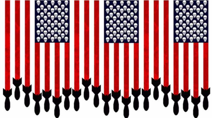American flag military industrial complex-compressed