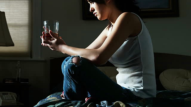 Giving Up Alcohol - Female Drinking