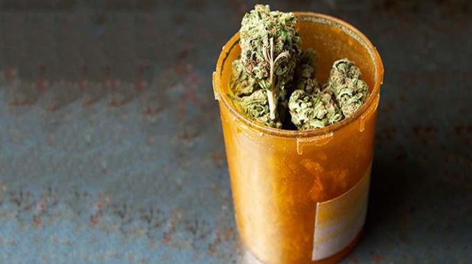marijuana cannabis medication bottle