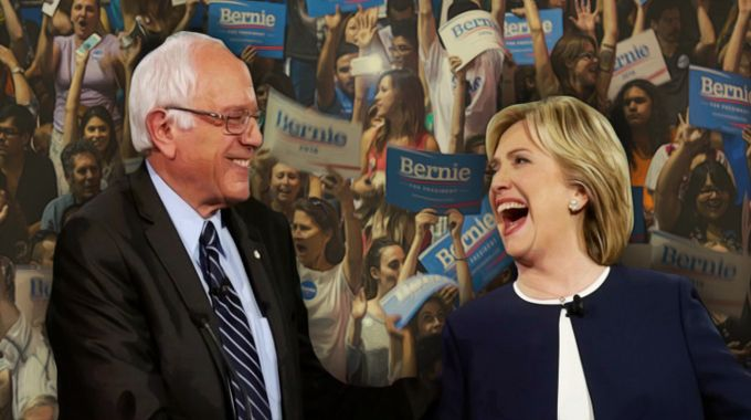 hillary-bernie-laughing-supporters-compressed
