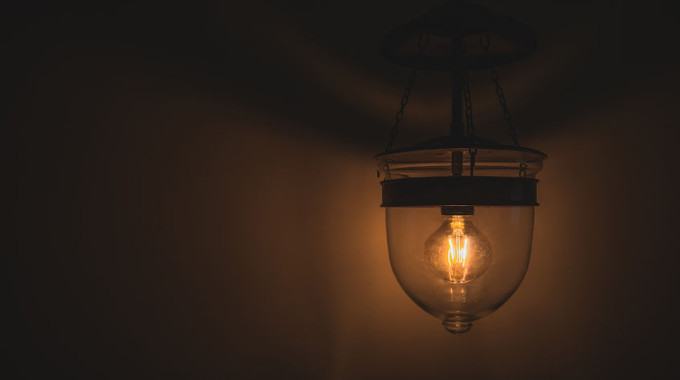 Old Retro Edison Light Bulb With Dim Light Design Ideas