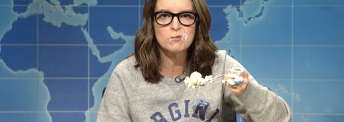 Watch: Tina Fey Destroys Trump, Nazis and Paul Ryan On SNL — All While Eating A Cake