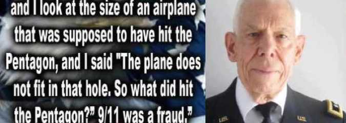 "9/11 MUST SEE: ""I can prove that it was NOT an airplane"" that Hit the Pentagon – Major General Albert N. Stubblebine"