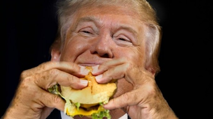 Image result for trump and fatty food