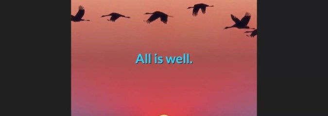 WATCH: All Is Well Meditation | Gabrielle Bernstein [Awesome 5-min Video]
