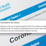 WHO: 'Children Should Not Be Vaccinated for the Moment'