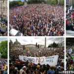 Corporate Media Largely Silent as Millions Protest Vaccine Mandates Worldwide