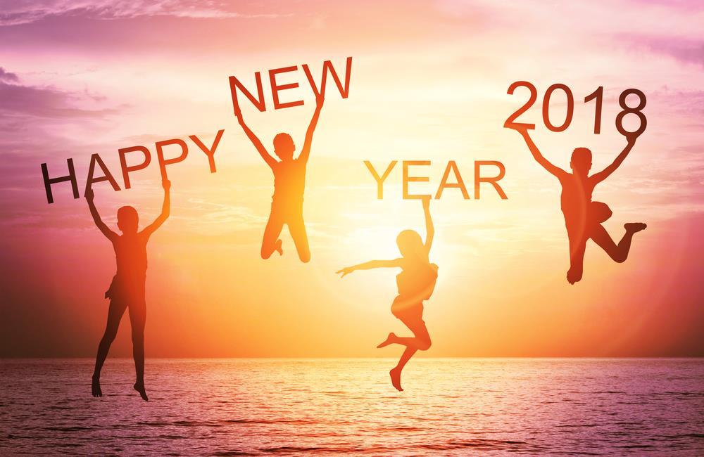 happy new year 2018 wishing greeting card