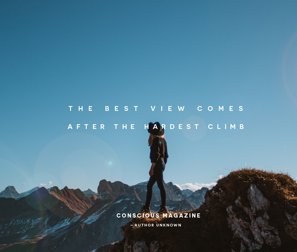 Image result for best view comes after the hardest climb