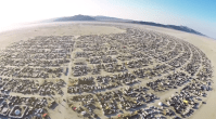 Incredible Drone's View Of Burning Man 2014