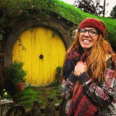 Hobbiton! Samwise Gamgee's very own door! :)