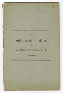 Cover of the Anthropometric Manual of Amherst College, 1889