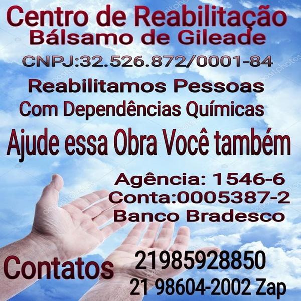 Ajude o Centro de Reabilitaçao - Centro de Reabilitação Balsamo de Gileade