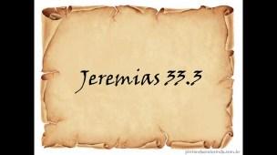 Clama a mim e responder-te-ei - Versículo de Jeremias - Conselheiro Cristão