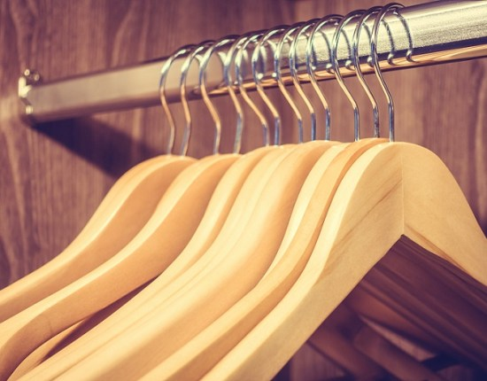 Selective focus point on Clothes hanger - Vintage Filter