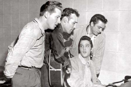 The Million Dollar Quartet, 12/4/56, Jerry Lee Lewis, Carl Perkins, Elvis Presley, and Johnny Cash