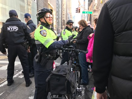 Even the police were smiling, as they used their bikes for crowd control.