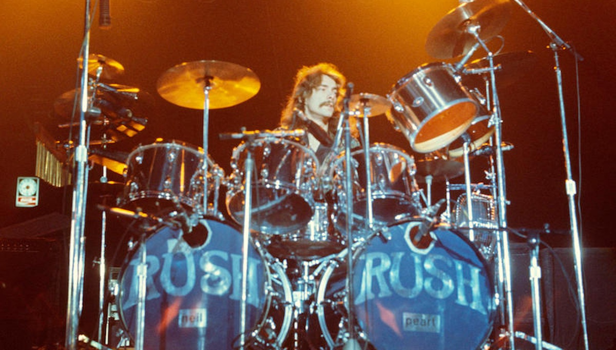 neil peart s 2112 drum set sells for