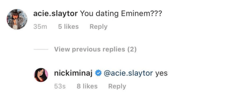 Nicki Minaj says she's dating Eminem | Consequence of Sound