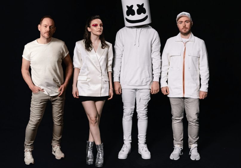 Image result for marshmello lauren mayberry chris brown