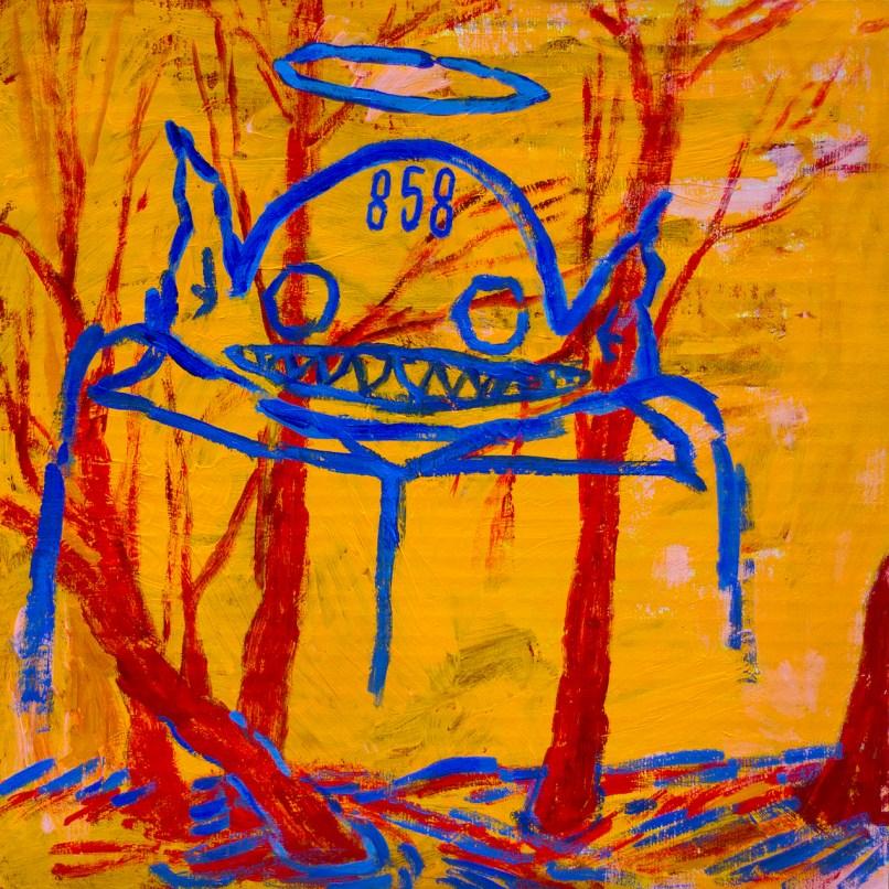 il paradiso goon è l'opera d'arte di copertina di un annuncio