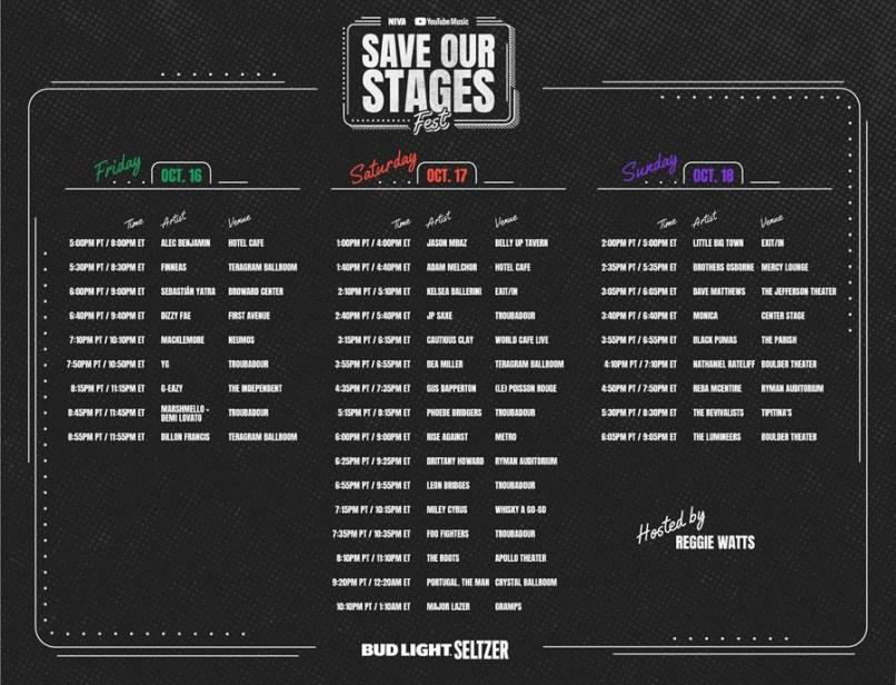 SOS Fest Schedule