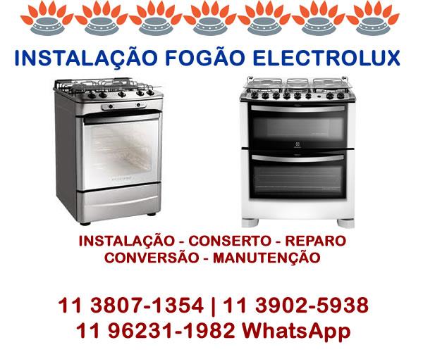 Instalação fogão Electrolux