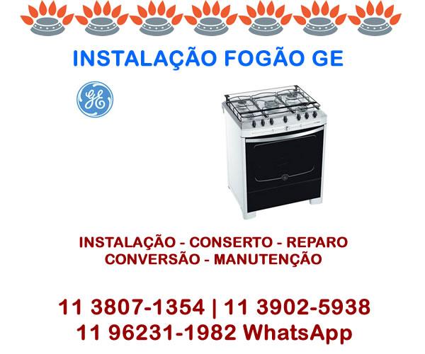 Instalação Fogão Ge