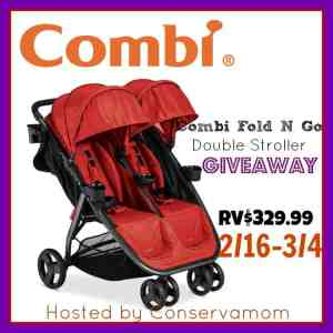 Combi Fold N Go Double Stroller Giveaway ends 3/4