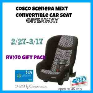 Cosco Scenera Next Car Seat Review & Giveaway ends 3/17