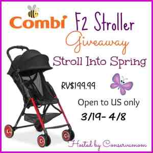 Combi F2 Stroller Giveaway (RV$199.99) ends 4/8