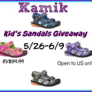 Kamik Kid's Sandals Giveaway ends 6/9