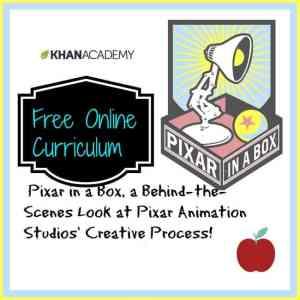Free Online Curriculum from Pixar & Khan Academy
