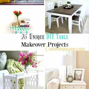 25 Unique DIY Table Makeover Projects