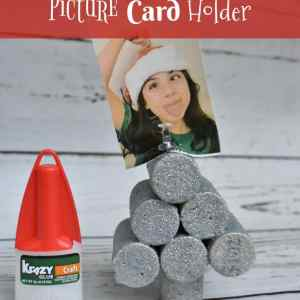 DIY  Krazy Holiday Picture Card Holder
