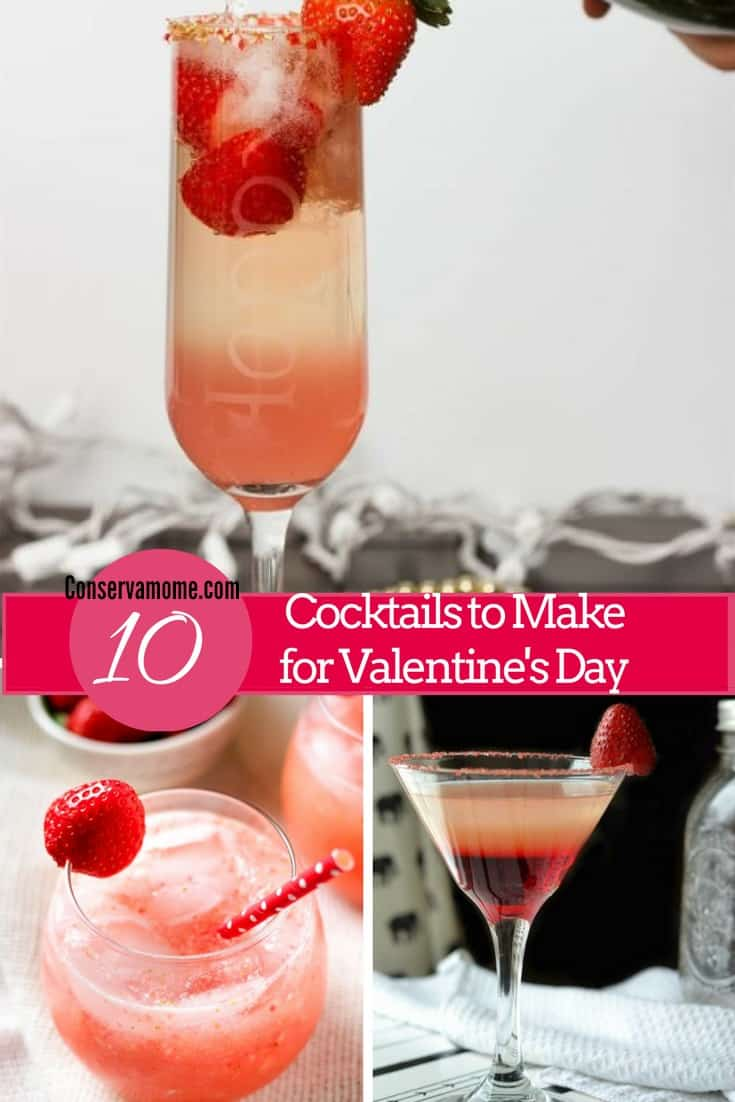 cocktails to make for Valentine's day