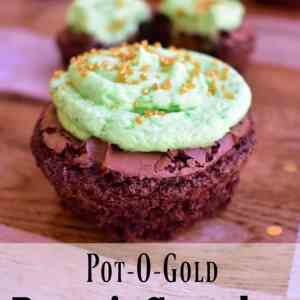 Pot-O-Gold Brownie Cupcakes