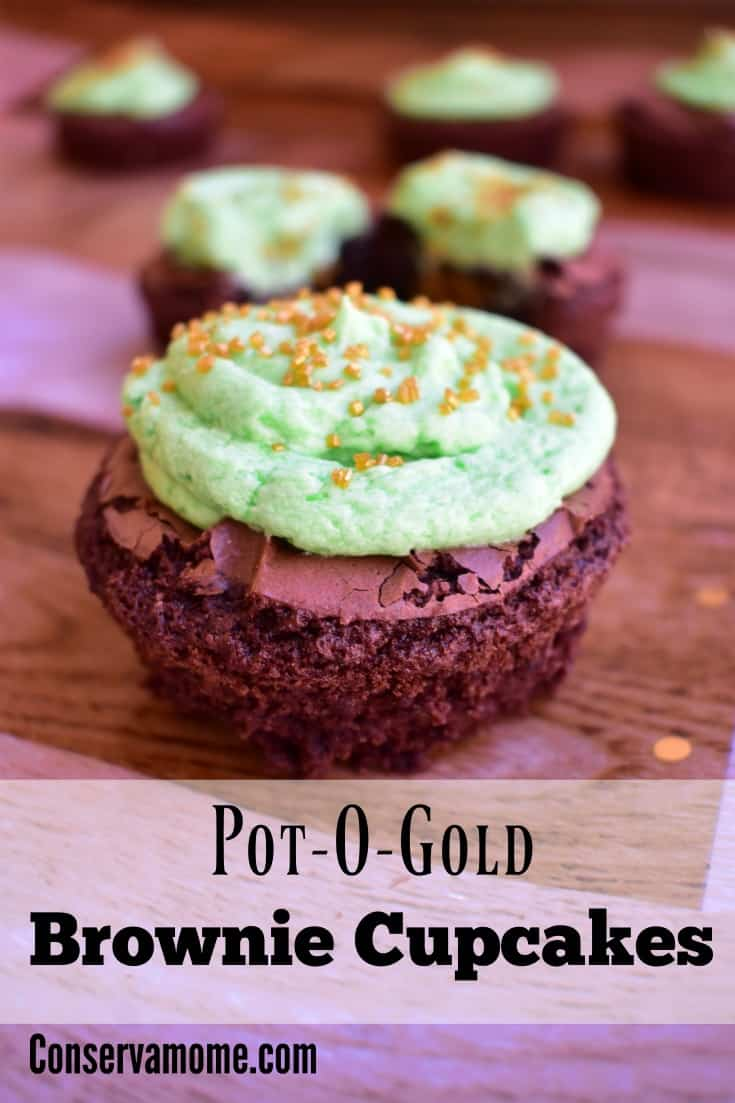 Pot-O-Gold brownie cup cakes