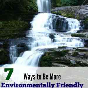 7 Ways to Be More Environmentally Friendly