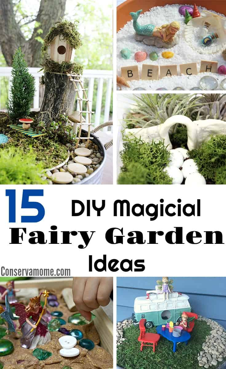 ConservaMom - 15 DIY Magical Fairy Garden Ideas + Tips on ... on Magical Backyard Ideas id=41133