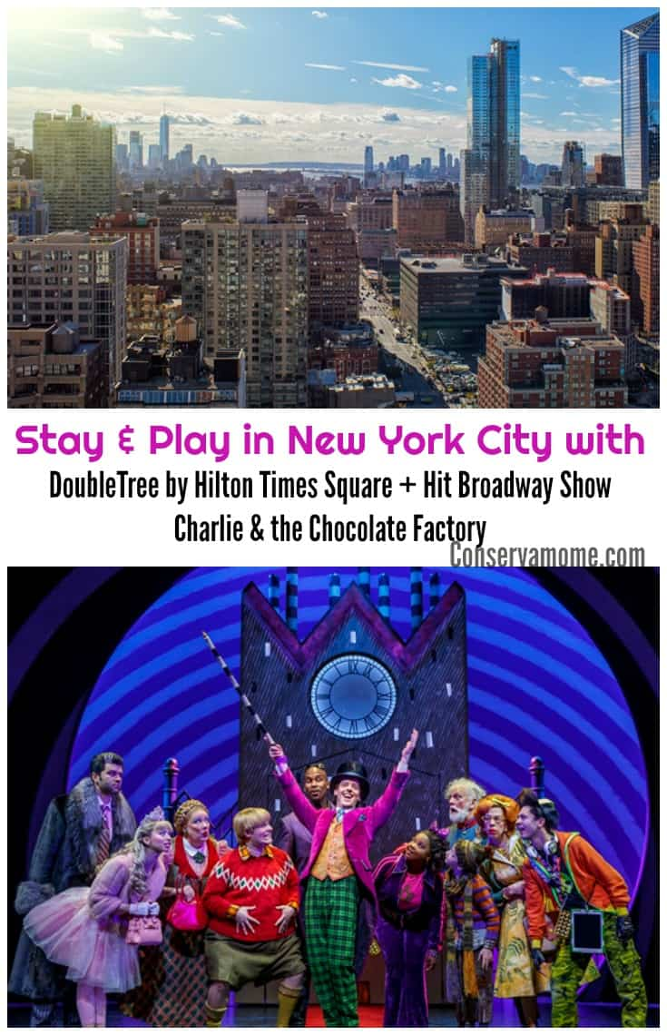Looking for a fun getaway to New York City? Check out the awesome partnership between DoubleTree by Hilton Times Square +Hit Broadway ShowCharlie & the Chocolate Factory!