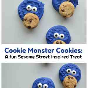 Cookie Monster Cookies: A fun Sesame Street Inspired Treat