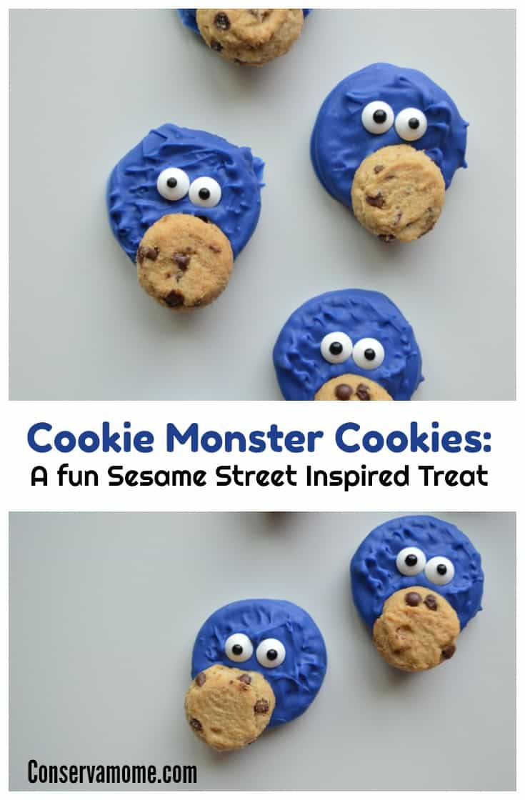 Chanel your inner cookie monster with this adorable Cookie Monster Cookie. A fun Sesame Street Inspired treat.