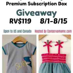 3-2-1 Framboise European Baby Clothing Subscription Box Giveaway ends 8/15